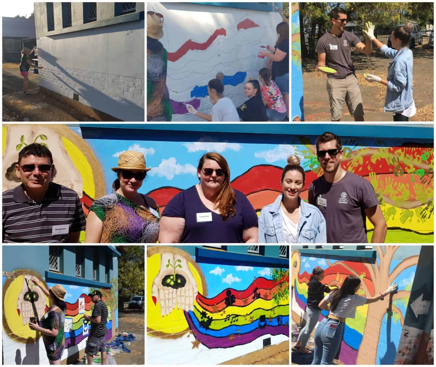 Collage of Telstra Volunteering Day