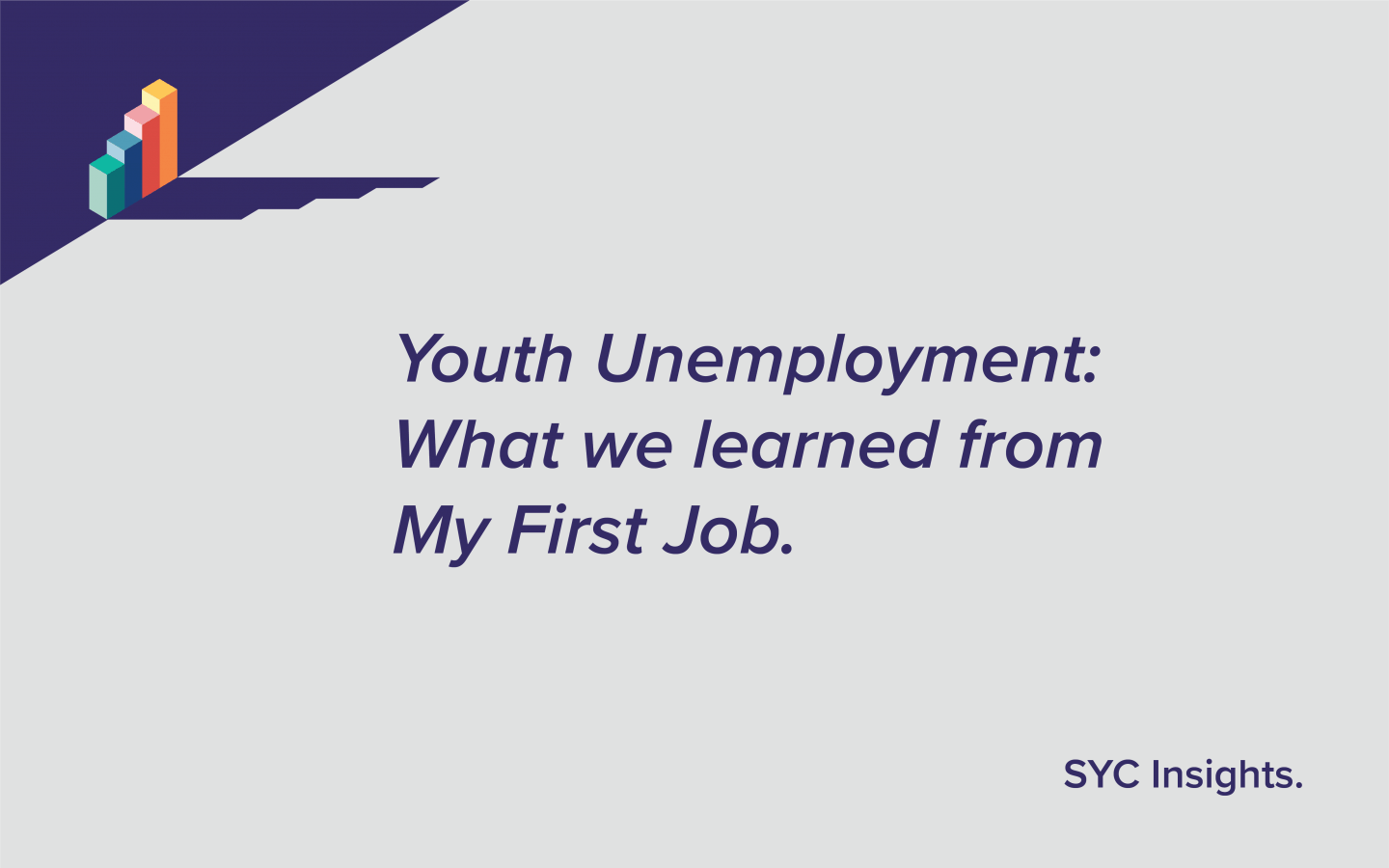 Youth Unemployment: What we learned from My First Job
