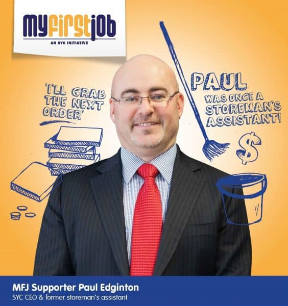 Paul Edginton My First Job Poster