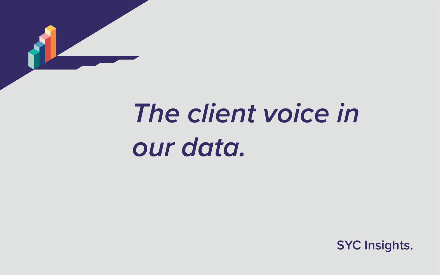 The client voice in our data - SYC Insights