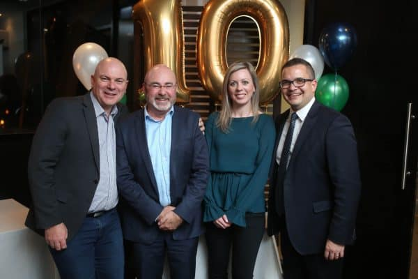 Paul Edginton (second from left) with fellow Executives Simon Matthews (left), Liz O'Connell and Mark Hoffman-Davis.